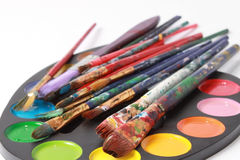 Brushes And Paints Stock Photos