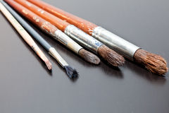 Brushes artist Royalty Free Stock Photos
