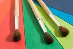 Brushes on background Royalty Free Stock Photo