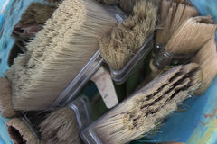 Brushes and bristle Stock Image
