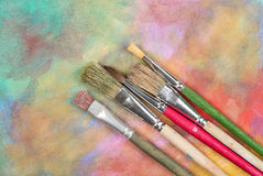 Brushes on a canvas Royalty Free Stock Photos