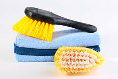 Brushes for cleaning Royalty Free Stock Image