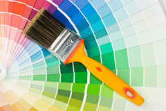 Brushes and color guide Royalty Free Stock Photo