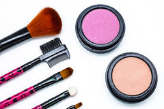 Brushes and cosmetic Stock Photography