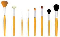 Brushes for cosmetics Stock Photos