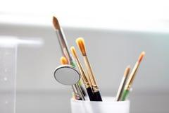 Brushes dental instruments Stock Photos