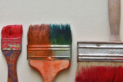 Brushes. Are depicted on a light background Royalty Free Stock Image