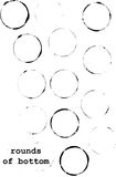 Brushes of dotted rings Royalty Free Stock Photo