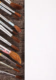 Brushes for drawing and blank paper Stock Image