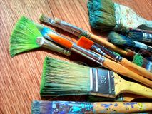 Brushes for drawing. Stock Photo