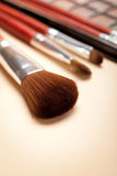 Brushes and eye shadows palette Stock Photo