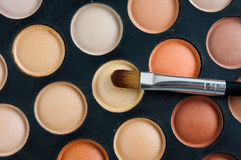 Brushes and eyeshadow palette Royalty Free Stock Photos
