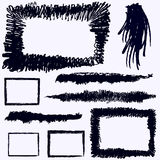 Brushes and frames  Stock Photos