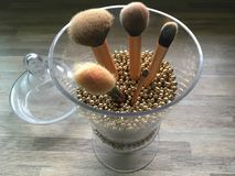 Brushes on the glass stock photography