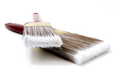 Brushes With Great Detail In Top Bristles Stock Photography