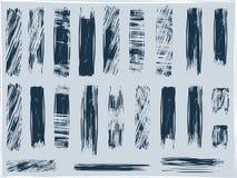 brushes grungevektorn Arkivbild