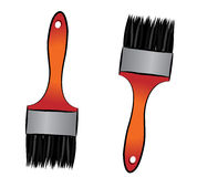 Brushes illustration Royalty Free Stock Photos