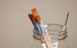 Brushes in Jar Royalty Free Stock Photography