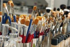 brushes kosmetisk makeup Arkivfoto