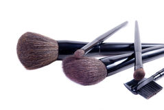 Brushes for a make-up. Brushes for a make-up, on a white background Stock Photo