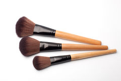 Brushes for make-up. On white Stock Photos