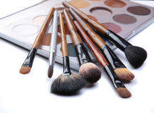 Brushes for make-up isolated Royalty Free Stock Photography
