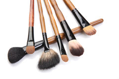 Brushes for make-up  Stock Images