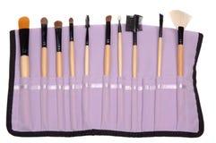brushes makeup Arkivfoton