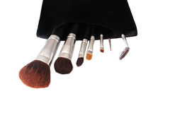 brushes makeup Arkivfoto