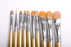 Brushes for makeup Royalty Free Stock Image