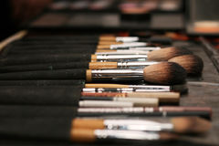 brushes makeup Arkivbilder