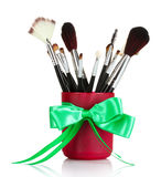 Brushes for makeup Royalty Free Stock Images