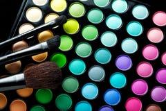 brushes makeup Royaltyfri Foto