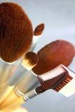 brushes makeup Arkivfoto