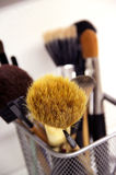 Brushes for makeup foundation and powder Stock Photos