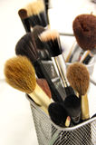 Brushes for makeup foundation and powder Stock Photography