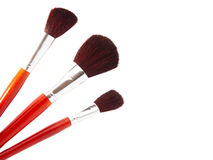 Brushes for makeup isolated Royalty Free Stock Photography