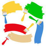 Brushes and paint Stock Images