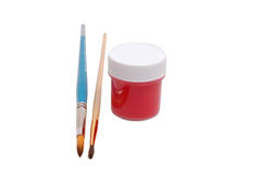 Brushes and paint Royalty Free Stock Photos
