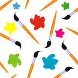 Brushes and paint seamless background. , design, drawing Royalty Free Stock Images