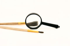Brushes. Painter, objective picture, white background Royalty Free Stock Photos