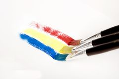Brushes painting Royalty Free Stock Photos