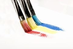 Brushes painting Stock Photos