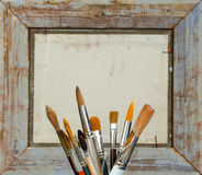 Brushes for painting Royalty Free Stock Photography