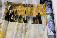 Brushes for painting Royalty Free Stock Photos