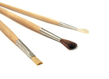 Brushes for painting on white Stock Images