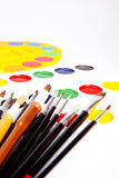 Brushes and paints Royalty Free Stock Images