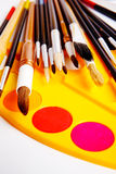 Brushes and paints Royalty Free Stock Photo