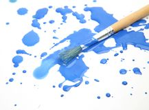 Brushes and paints Stock Images