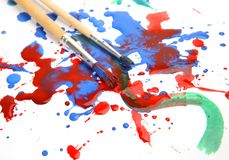 Brushes and paints Royalty Free Stock Photos
